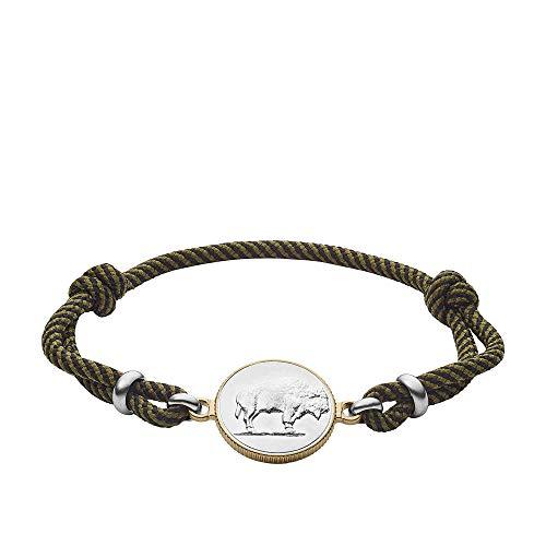 Modern Americana Olive Fabric Station Bracelet