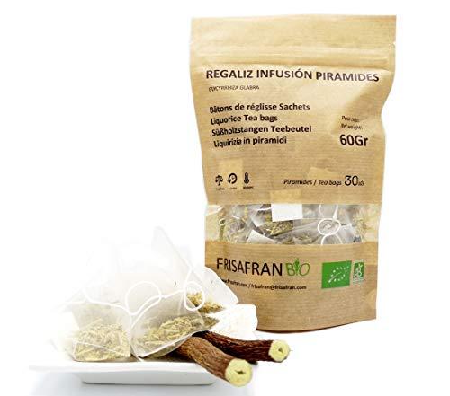 FRISAFRAN - Regaliz de palo ecologico ★PIRAMIDE infusion 30Uds - 45Gr.