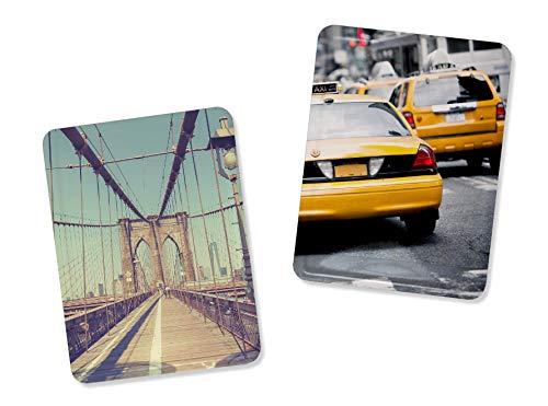 Hochwertiger Magnet mit eigenem Foto - Fotomagnet 8x6 cm - Hochformat - metallische Oberfläche - individuelle Gestaltung