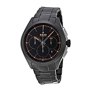 Rado Hyperchrome Automatic Chronograph Black Dial Black Ceramic Mens Watch R32525162 Shop and Now and review image