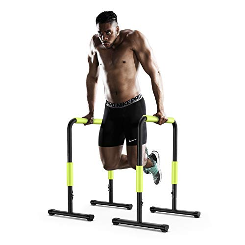 KFK Dip Stand Station, Heavy Duty Ultimate Body Press Bar with Safety Connector for Tricep Dips