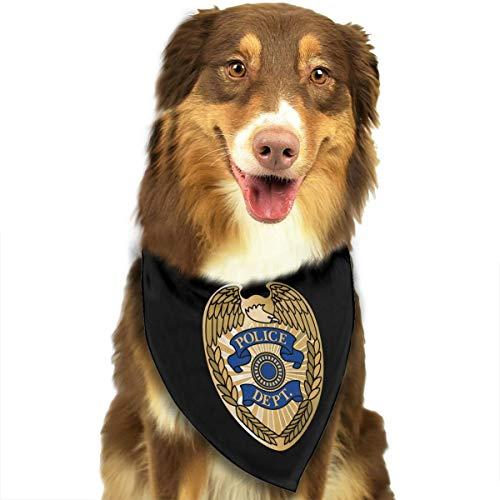 HJKH PJKL Chicago Police Department Pet Dog Puppy Cat Triangle Bibs Scarf Bandana Collar Neckerchief Mchoice - Any Pets
