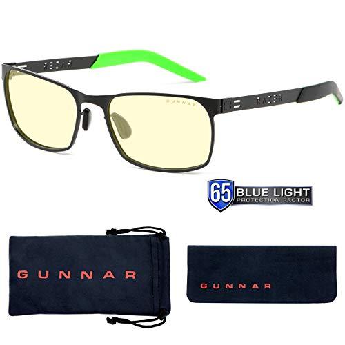 Gunnar Gaming- und Computerbrille | Razer FPS, Amber Linse| Blue Light Blocking Glasses | Patentierte Linse, 65% Blaulicht- & 100% UV-Lichtschutz zur Verringerung der Augenbelastung