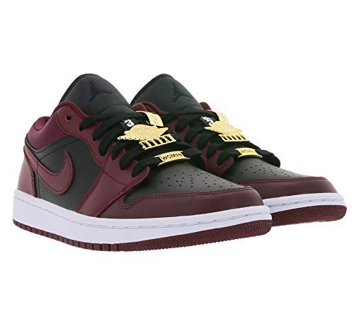 Nike Air Jordan 1 Low SE - Zapatillas de deporte para mujer con aplicaciones doradas, color negro y rojo, color Negro, talla 38.5 EU