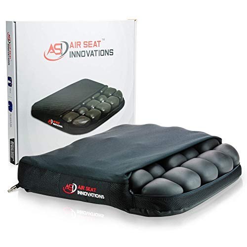 """Air Seat Innovations Seat Cushion: Office Chair, Wheelchair, Car or Truck Driver Seat Pad - Lower Back, Coccyx and Sciatica Pain Relief, 18"""" x 16"""""""