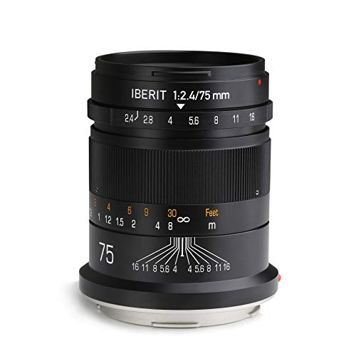 KIPON IBERIT 75mm F2.4 Full Frame Lenses for...