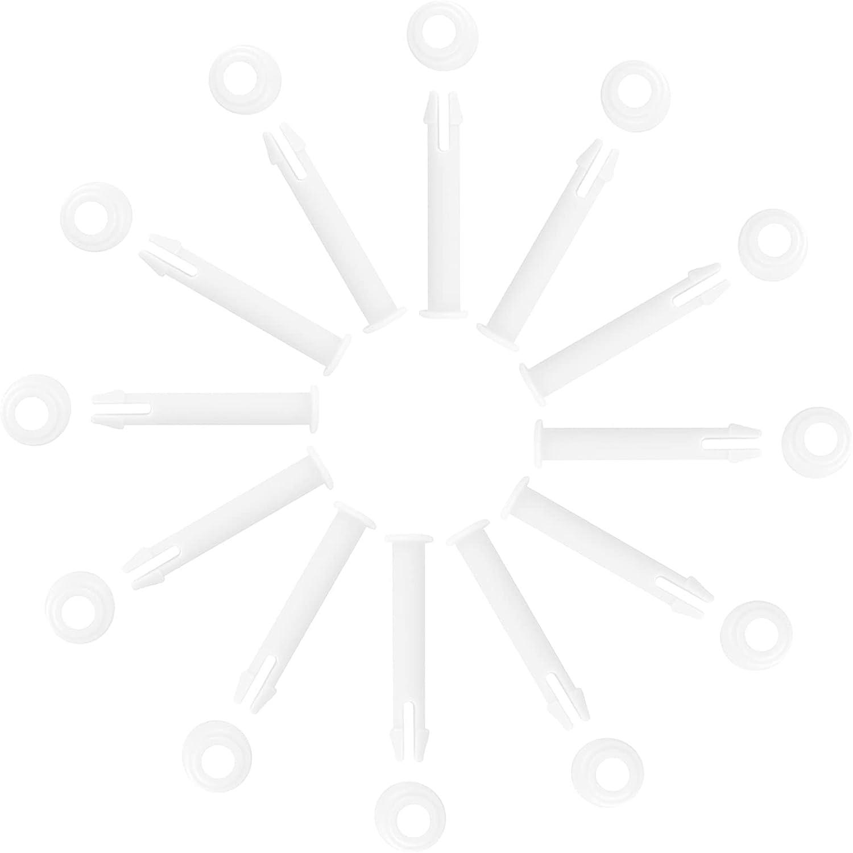 12 Piezas Pines de Para Juntas de Piscina Redondas Repuesto de Plastico de Piscina Piezas de Repuesto Para Marco de Piscina Pasador de Pasador de Repuesto Para Piscina Para Mayoría de Las Piscinas