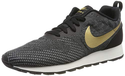 Nike Herren MD Runner 2 ENG MESH Fitnessschuhe, Mehrfarbig (Black/Metallic Gold/Cool Grey/Phantom 011), 42 EU
