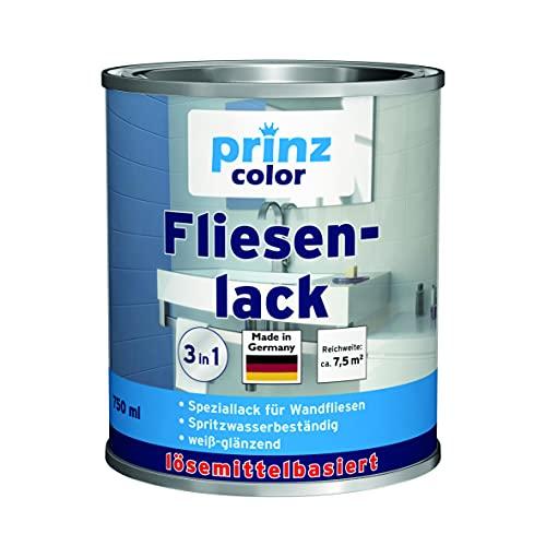 prinzcolor Premium Fliesenlack Fliesen Lack Fliesenfarbe Fliesen steichen Anthrazitgrau -Glänzend 0,75l