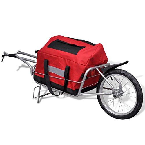 Festnight Rimorchio Bicicletta con Ruota Singola e Una Borsa