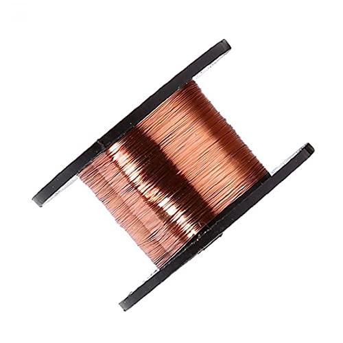 Vernie Fil de cuivre isolé 15M 0.1mm Electroaimant Inductance bobine d'enroulement de fil 10PCS Life Tools durable