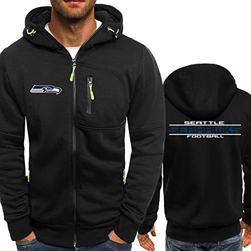Haoshangzh55 NFL Hoodie – Seattle Seahawks American Football Trainings-Sweatshirt, Unisex,Warmes Fleece-Sport-Pullover,L(170~175cm)