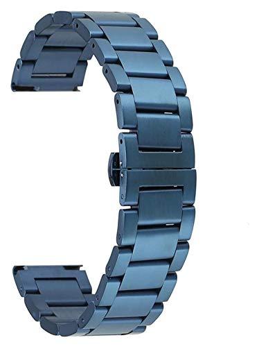 ZJSXIA Pulsera de 20 mm Correa de Correa 22 mm Correa de Reloj de Acero Inoxidable 18 mm 24 mm. Correas de Reloj (Color : 20mm, Size : A)