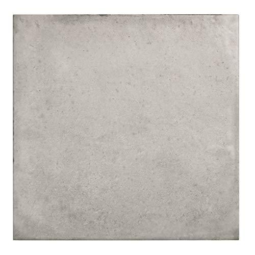 Nais Cerámica para suelos y paredes Colección Terra (20x20 cm) - Caja de 1 m2 (25 pzas), Taupe