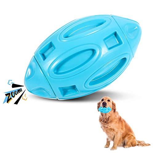 metagio Quietschendes Hundespielzeug für Aggressive Kauer American Football Hundespielzeug Hunde KauspielzeugZum Reinigen Der Zhne Und Interaktives Training, für alle Arten von Hunden, Blau