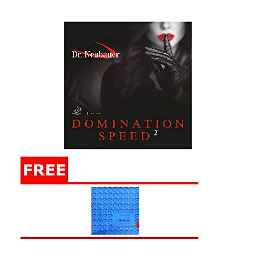 New Dr.Neubauer Domination Speed 2,Black,2.1 + Free! Kokutaku 868 Spin Power Table Tennis Rubber
