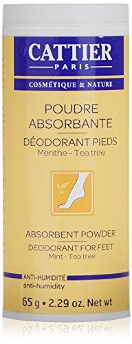 Cattier Polvos absorventes desodorantes para pies - 65 g