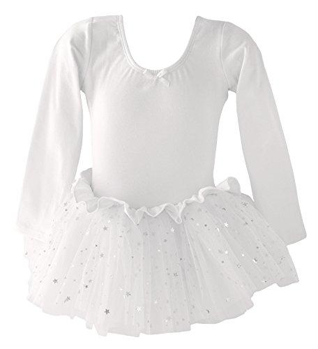 Dancina - Vestido Tutú Maillot de Ballet y Danza Clásico con Purpurina...