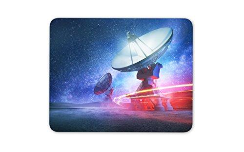 Teleskop-Mauspad mit Sonnensystem, Alien Galaxy, UFO, Computergeschenk, 8216