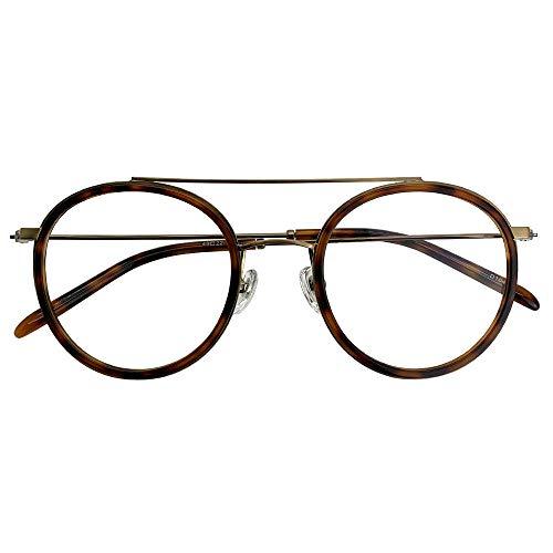 SHOWA ブルーライトカット UVカット 遠近両用メガネ ベネディクト (デミ) (メンズセット) 全額返金保証 境目のない 遠近両用 眼鏡 老眼鏡 おしゃれ メンズ 男性 リーディンググラス パソコン PC メガネ (瞳孔間距離:57mm〜59mm,