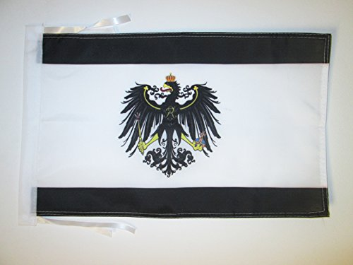 AZ FLAG Flagge KÖNIGREICH PREUßEN 1701-1918 45x30cm mit Kordel - PREUSSEN Fahne 30 x 45 cm - flaggen Top Qualität
