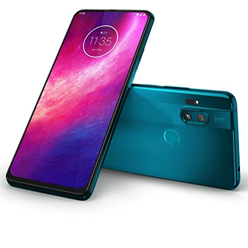 "Motorola One Hyper 128GB + 4GB RAM, XT202-1, 6.5"" FHD+, 64 MP Photos, LTE Factory Unlocked Smartphone - International Version (Blue Iceberg)"