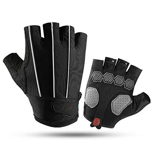 BRAZT Cycling Gloves, Breathable Men Half Finger Bike Gloves, Fingerless Gloves for Gym MTB Riding Bicycle Running Exercising,M