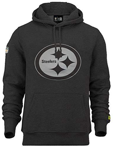New Era Pittsburgh Steelers NFL Hoody Two Tone Black Heather - L