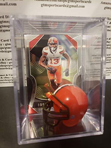 Odell Beckham Jr Cleveland Browns Mini Helmet Card Display Case Collectible Auto Shadowbox Autograph