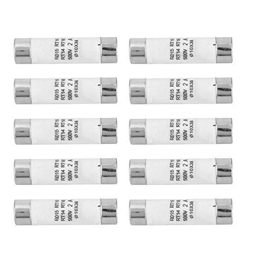 Fusible de cartucho de ruptura alto de fusible de cartucho de 10 piezas con dispositivo indicador 10x38 380-500VAC 2A