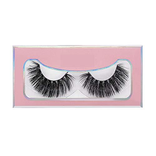 1 Paire Cils, 3D Vison Cils 5 Paires De 5 Différents Styles Réutilisables Épais Long Regard Fluffy Naturel Et Dramatique Pour Le Maquillage,80