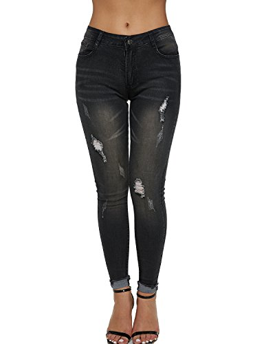 Dorimis Vrouwen Sexy Ripped Gat Skinny Slim Fit Potlood Jeans Hoge taille Butt Lifting Denim Broek Stretch Super Zachte Broek Leggings