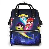 Mochila para pañales - Colorido Powerpuff Girls Multifunción Impermeable Viaje Mochila Pañal Cambiar Bolsas