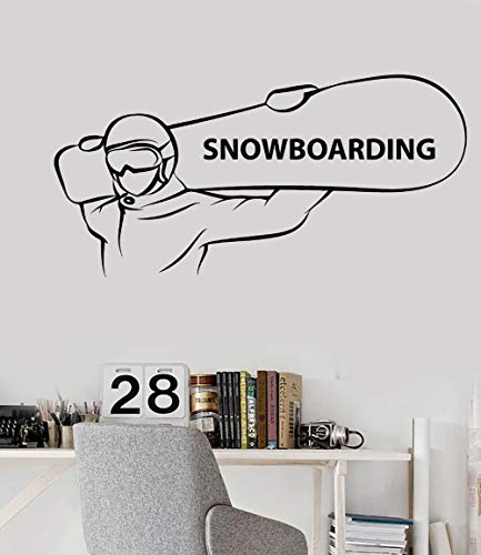 Einfacher Verkauf Vinyl Aufkleber Snowboard Extreme Sport Snowboarder Aufkleber Für Mann Wohnzimmer Dekoration Abnehmbare 114X56CM