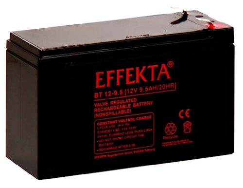 Effekta AGM Akku Batterie Typ BT12-9,5   12V 9,5Ah  Anschluß 6,3mm