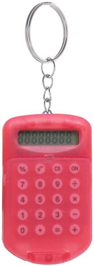 calculators Desk Calculator, 8-Digit Office Calculator,Boutique Stationery Calculator Personalized Mini Candy Color Scientific calculators (Color : Red)