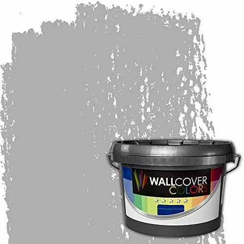 WALLCOVER Colors Wandfarbe Grau 2,5 L für Innen Innenfarbe hellgrau Matt | Profi Innenwandfarbe in Premium Qualität | weitere Größen erhältlich