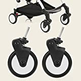 Poussettes pour bébés Roues en caoutchouc Accessoires Avant Roue Arrière Ensemble pour Yoya Vovo Roue Enfants Transport Outils(1 Pair Front Wheel)