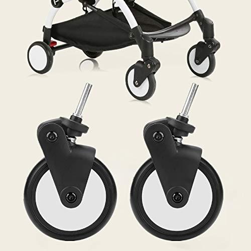 Accessori per ruote in gomma per passeggini Set di ruote posteriori anteriori per attrezzi da trasporto per bambini con ruote Yoya Vovo(1 Pair Front Wheel)