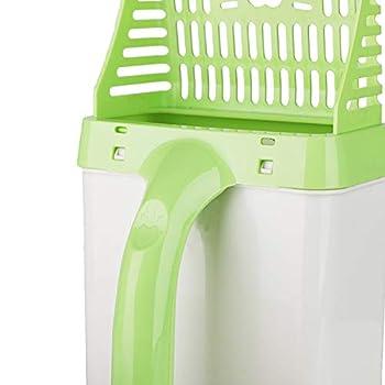 Walmeck Scooper Chat Sand Nettoyage Scoop Outil Pelle en Plastique pour Litière Creuse avec 15pcs Sacs à Provisions pour Animaux Domestiques