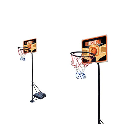 Smart-Planet® Basketballständer - Basketballkorb mit Ständer - höhenverstellbar 165-205 cm - Basketball - Heimspiel - Outdoor - mit Rollen