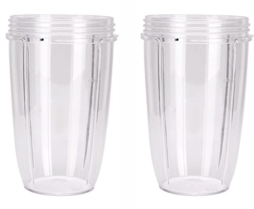 Replacement Cups for NutriBullet (Tall - 24-Once) by Preferred Parts | Premium Replacement Parts and Accessories for NutriBullet (Pack of 2)