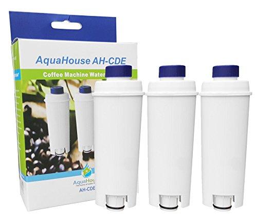 3x AH-CDE Kompatibler Filter für DeLonghi Wasserfilter DLSC002, SER3017, 5513292811, passend für Delonghi Bohnen- und Espressokaffeemaschinen