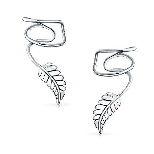 Blatt Feder Knorpel Ohr Manschetten Clip Wrap Wire Ohrringe Helix Für Frauen Für Männer Nicht Durchbohrt Ohr 925 Sterling Silber