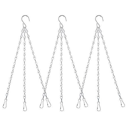 Yuccer 3 Sets Chaine pour Suspension Pot de Fleur Axterieur Suspendu pour Mangeoires, Jardinières, Lanternes et Ornements