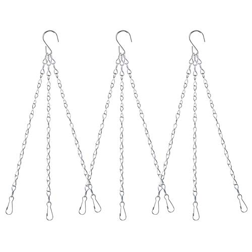 Yuccer 3 Sätze Metall Blumenampel Ketten Ketten zum Aufhängen Blumenampel Hängende Kette