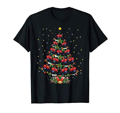 Ladybug Animal Lover Xmas Gift Ladybug Christmas Tree T-Shirt