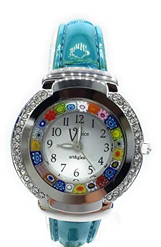 Orologio Donna Antica Murrina Venice Colore Acciaio watch in Vetro di Murano Cristal