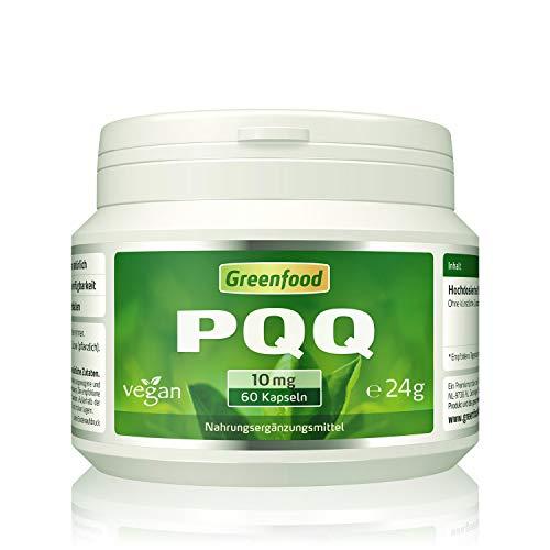 PQQ, 10 mg, 60 Kapseln, hochdosiert, vegan – stärkt die Mitochondrien-Funktion und antioxidative Schutzsubstanz. OHNE künstliche Zusätze. Ohne Gentechnik. Vegi-Kapseln. Vegan.