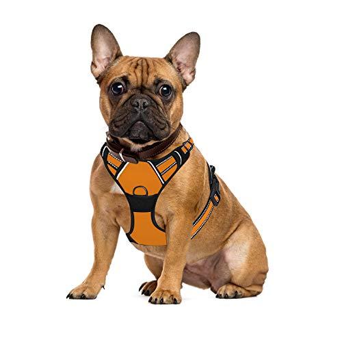 MAIGG Hundegeschirr Große Hunde Welpe Hundegeschirr Anti Zug Atmungsaktiv Brustgeschirr No Pull Sicherheitsgeschirr Reflektierend Dog Harness Einstellbar Weich für Große/Mittlere/Kleine Hunde